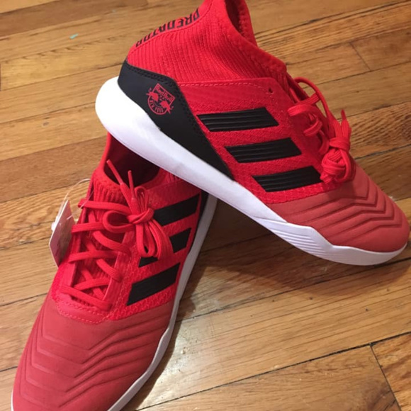 new red adidas sneakers